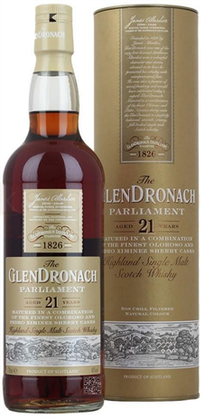 Glendronach Scotch Single Malt 21 Year Parliament